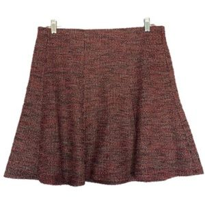 5/$25 Loft Red/Black Tweed A-Line Skirt